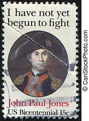 John Paul Jones - USA - CIRCA 1947: A stamp printed in USA...