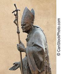 john, statue, pape, paul, ii