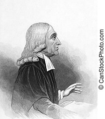 John Wesley (1703-1791) on engraving from the 1800s....