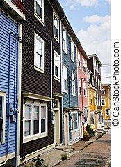 john\'s, casas, s., colorido