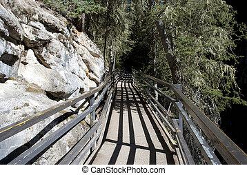 Johnston Canyon Falls Walkway