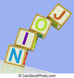 Join Blocks Showing Member Signing Up And Group