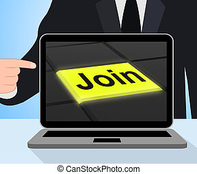 Join Button Displaying Subscribing Membership Or Registration