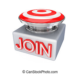JOIN button. Isolated on white background.3d rendered.