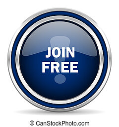 join free blue glossy web icon
