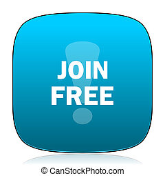 join free blue icon