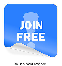 join free blue sticker icon