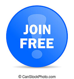 join free internet blue icon