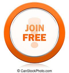 join free orange icon