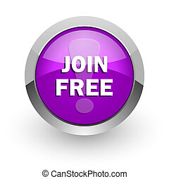 join free pink glossy web icon