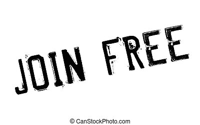Join Free rubber stamp