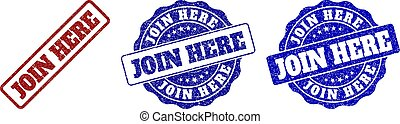 JOIN HERE Grunge Stamp Seals - JOIN HERE grunge stamp seals ...