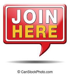 join here icon - Join us now and register today. ...