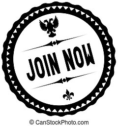 JOIN NOW black stamp.