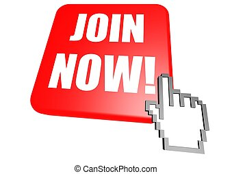 Join now button - Rendered artwork with white background