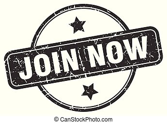 join now grunge stamp