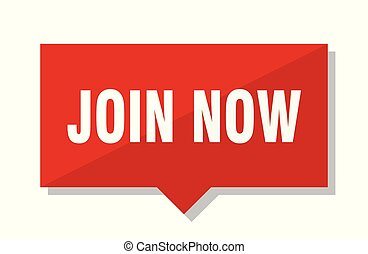join now red tag
