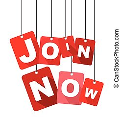join now, red vector join now, flat vector join now, background join now