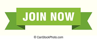join now ribbon. join now isolated sign. join now banner