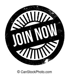 Join now stamp. Grunge design with dust scratches. Effects...