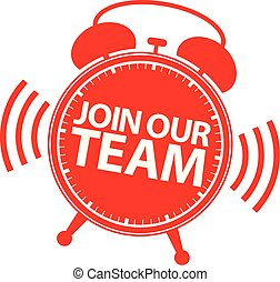 Join our team icon red sign, vector illustration