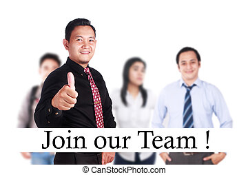Join Our Team, Motivational Words Quotes Concept