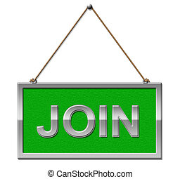 Join Sign Shows Membership Registration And Subscription