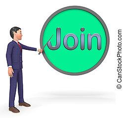 Join Sign Shows Registration Membership 3d Rendering