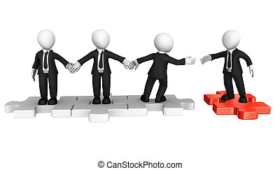 Join to our team! Give your hand! Teamwork concept.