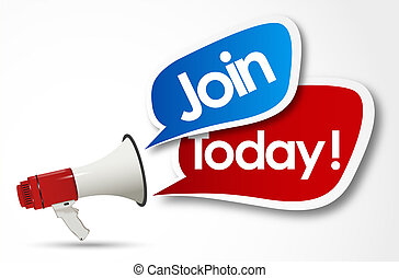 join today word and Megaphone