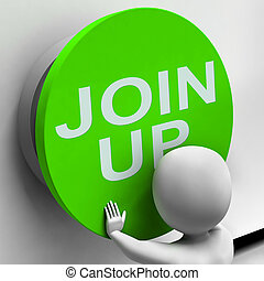 Join Up Button Means Subscribe Or Become A Member
