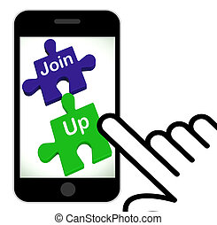 Join Up Puzzle Displays Membership Or Registration