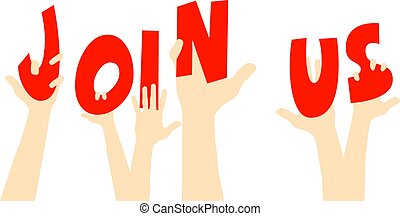 Join Us hands