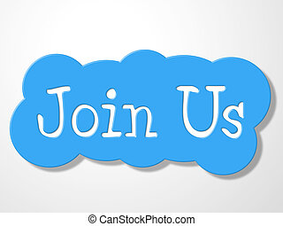 join us illustrations and stock art 2 463 join us illustration rh canstockphoto com Clip Art Idea Man Thinking Clip Art