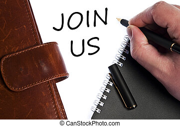 Join us message