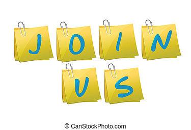 join us post message illustration design