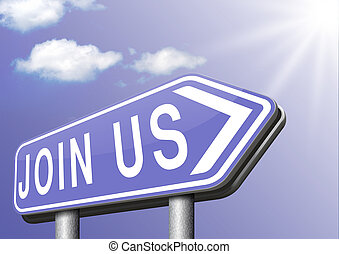 Join us sign