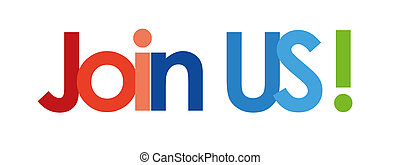 join us text in white background