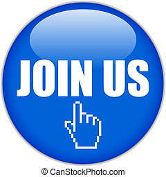 Join us vector button on white background