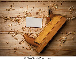 joiner tools on wood table background