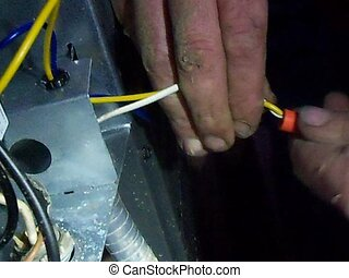 joining electrical wires - installing wire nuts on a quick...