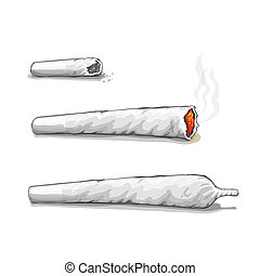 Joint or spliff. Drug consumption, marijuana and smoking...