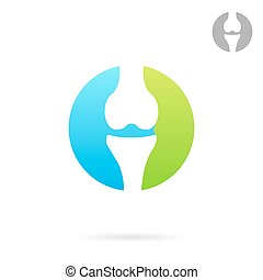 Joint treating clinic logo concept