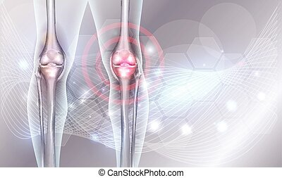 Joint treatment abstract background with beautiful glow and ...