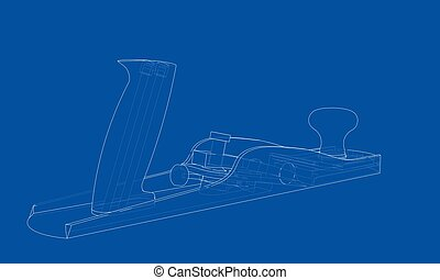 Jointer concept. Vector