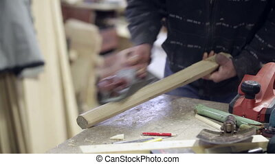 jointer manual hand carpenter wood