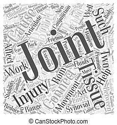 joints and connective tissues and back pain Word Cloud Concept