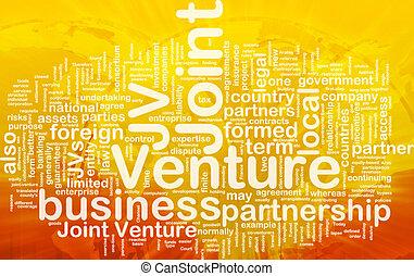 jointure, concept, entreprise, fond