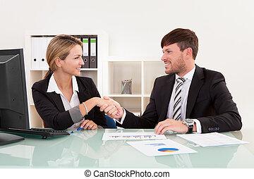 jointure, réunion, business, entreprise