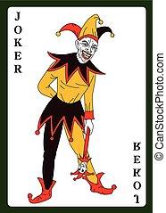 joker, déguisement, coloré